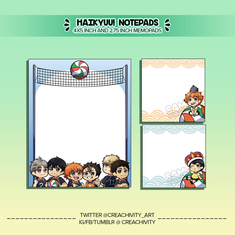 〘ON-HAND〙Haikyuu!! Karasuno Practice Game Notepads