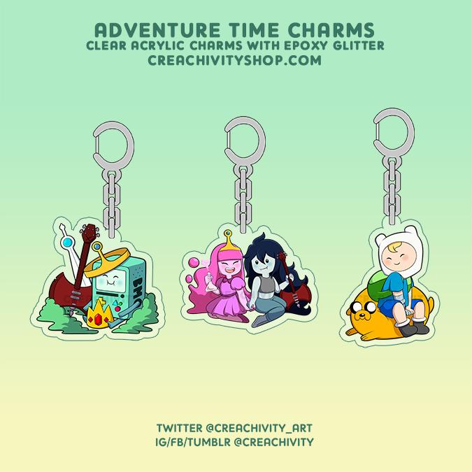 〘PRE-ORDER〙Adventure Time Glitter Epoxy Charms