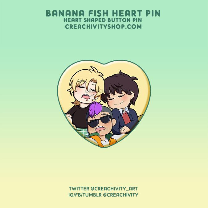 〘ON-HAND〙BANANA FISH HEART-SHAPED PIN