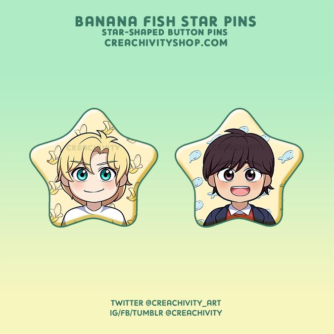 〘PRE-ORDER〙BANANA FISH STAR-SHAPED PINS