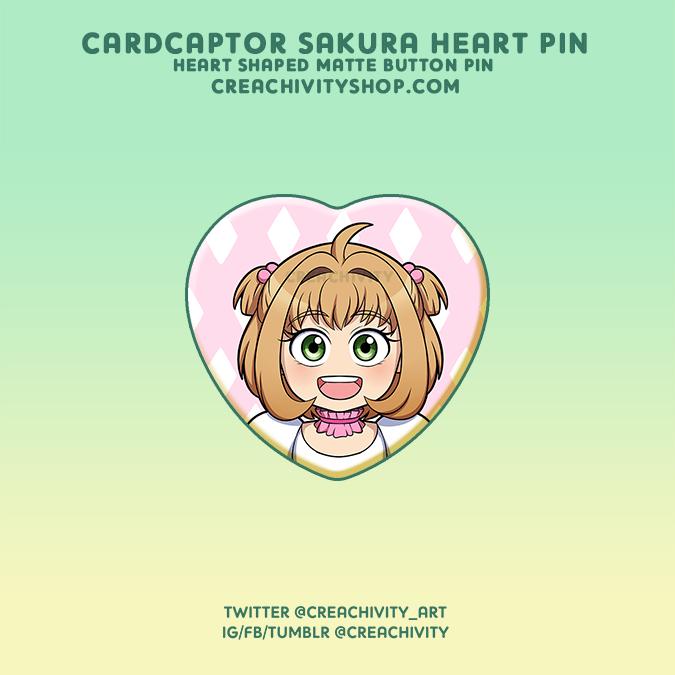 〘ON-HAND〙CARDCAPTOR SAKURA HEART-SHAPED PIN