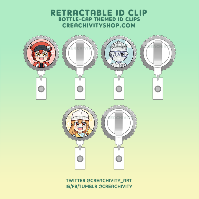 〘ON-HAND〙Cells at Work Retractable ID Clips