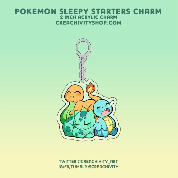 〘ON-HAND〙Pokemon Sleepy Starters Acrylic Charm