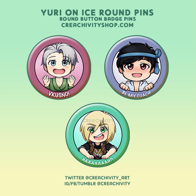 〘ON-HAND〙YURI ON ICE PINS