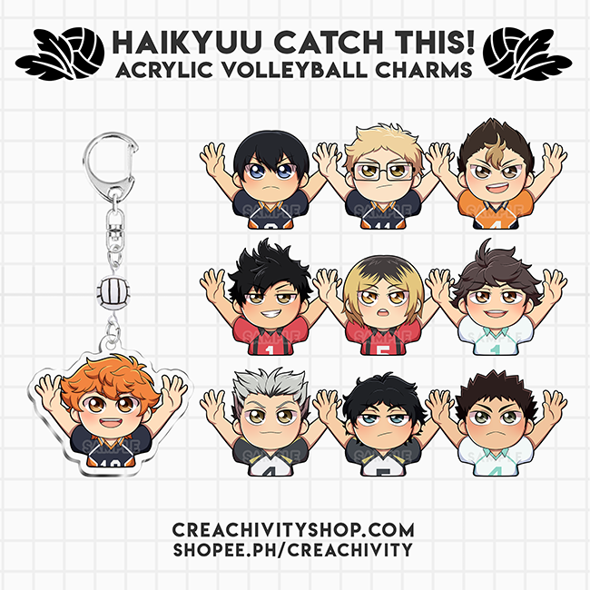 〘PRE-ORDER〙Haikyuu!! Catch This! Acrylic Volleyball Charms