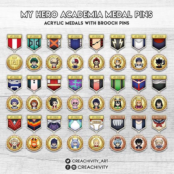 〘PRE-ORDER〙BOKU NO HERO ACADEMIA HERO MEDAL PINS