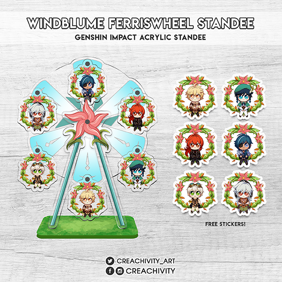 〘PRE-ORDER〙Genshin Impact: Windblume Festival Ferris Wheel